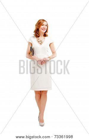 Full length of elegant female