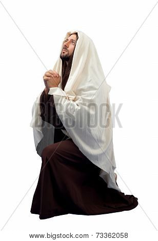 Jesus Christ Full Length In Knee