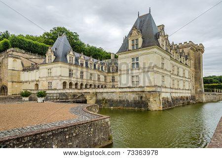 Castle Villandry With Moat