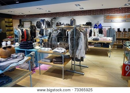 DUSSELDORF - SEPTEMBER 16: boutique interior on September 16, 2014 in Dusseldorf, Germany. International airport of Dusseldorf located approximately 7 kilometres north of downtown Dusseldorf