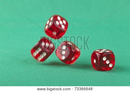 Dice On Green
