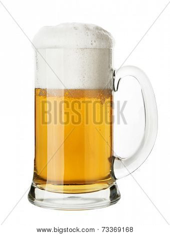 Mug of Beer, isolated on white background