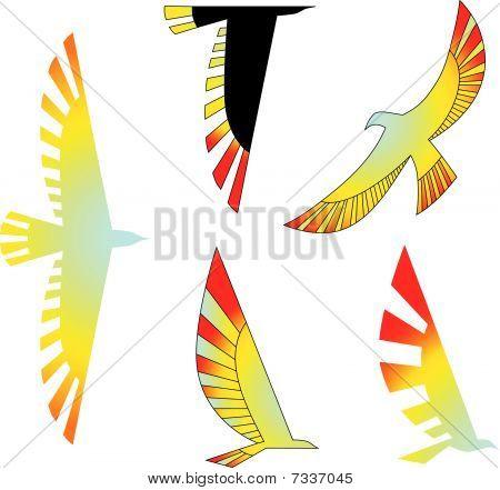 Birds icons set