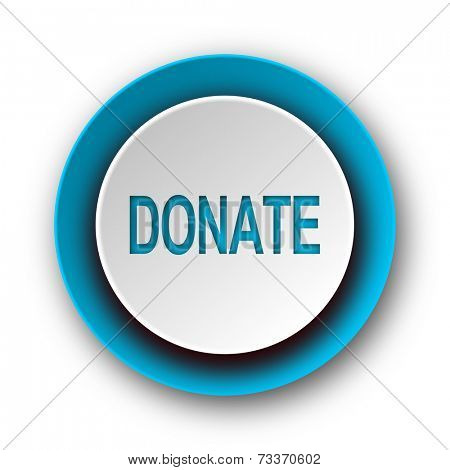 donate blue modern web icon on white background