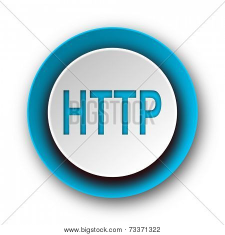 http blue modern web icon on white background