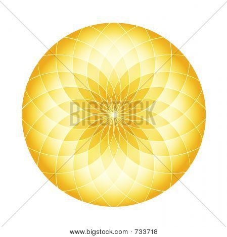Abstract Circle - Golden Fractals