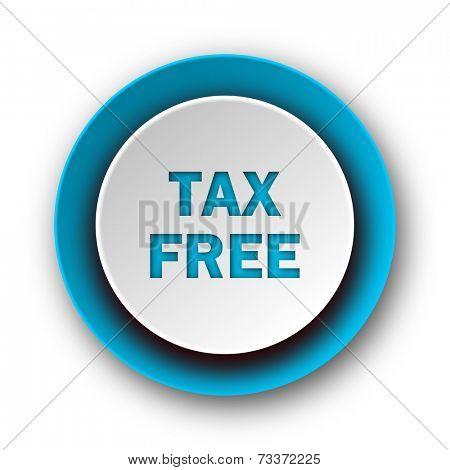 tax free blue modern web icon on white background