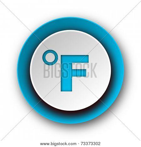 fahrenheit blue modern web icon on white background