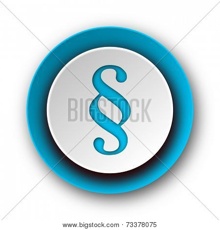 paragraph blue modern web icon on white background