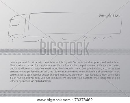 Truck Advertisement Wallpaper