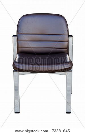 Close Up Chair On Isolated White With Clipping Path.