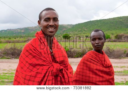 Two Unidentified African Men Pose for a Portrait