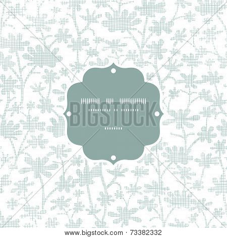 Vector abstract gray bush leaves textile frame seamless pattern background