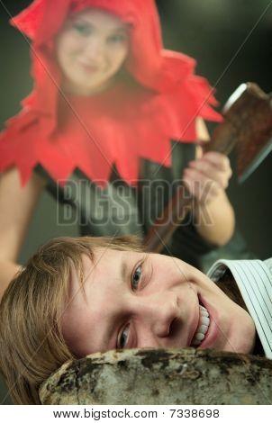 Girl with an ax