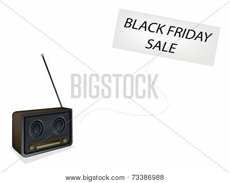 Beautiful Old Radio Playing Black Friday Song