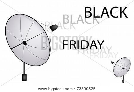 A Satellite Dish Sending A Black Friday Sign