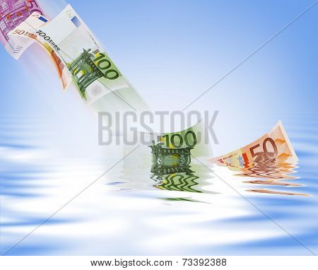 Wasting money - Stock Image