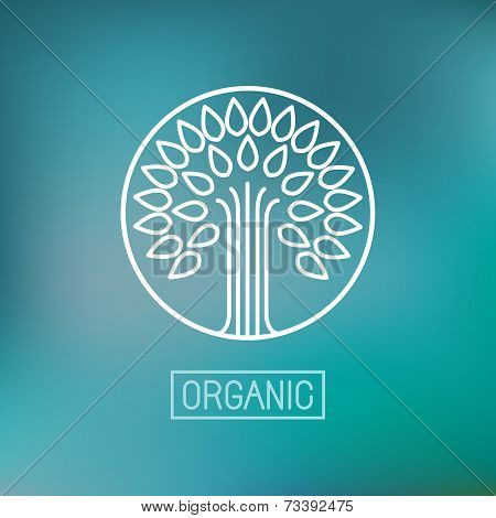 Organic Vector Abstract Emblem