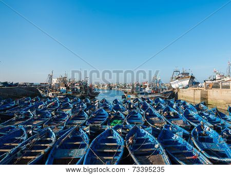 The Blue Boats Park At Of Skala Du Port