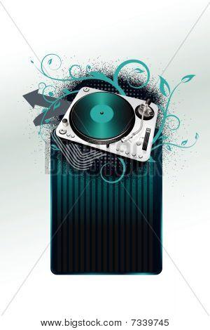 turntable -blue