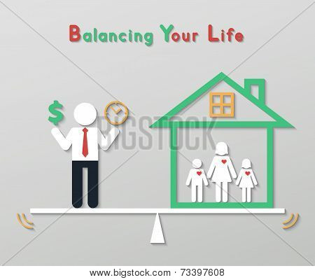 Idea Balance Your Life Business Concept