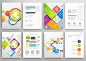 pic of geometric shapes  - Set of Flyer - JPG