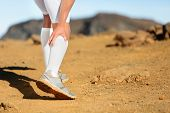 picture of calves  - Running Cramps in leg calves or sprain calf on runner - JPG