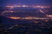 Palm Desert Night Panorama poster