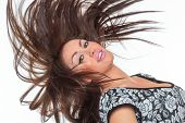 foto of hair motion  - Beautiful Healthy Girl with hair motion - JPG