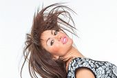 pic of hair motion  - Beautiful Healthy Girl with hair motion - JPG