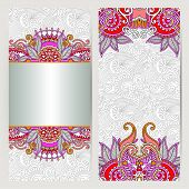 foto of lace  - decorative label card for vintage design - JPG
