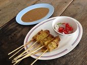 stock photo of southeast asian  - Pork Satay - JPG