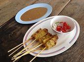 pic of southeast asian  - Pork Satay - JPG