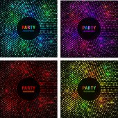 picture of spatial  - Set of Abstract Circular Colorful Bright Glow Backgrounds - JPG
