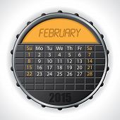image of february  - 2015 february calendar design with color lcd display - JPG