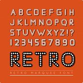 stock photo of marquee  - Retro marquee font - JPG