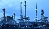 stock photo of refinery  - oil refinery industry in metalic color style use as metal style of heavy industry background - JPG
