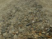 foto of fragmentation  - gravel rural road closeup fragment - JPG