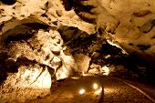 picture of stalagmite  - Beautiful cave with many stalagmites and stalactites inside - JPG