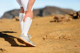picture of calf  - Running Cramps in leg calves or sprain calf on runner - JPG