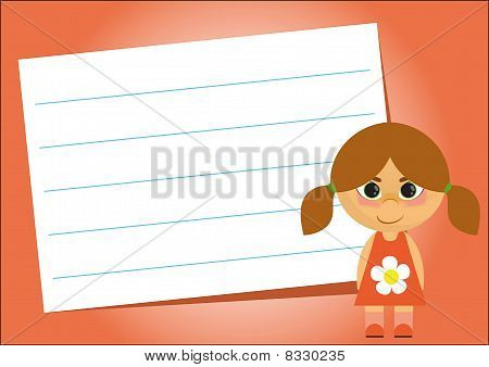 Lined Paper On A Red Background