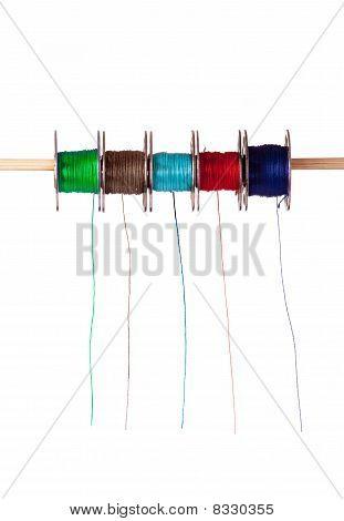 Colored Cotton Bobbins