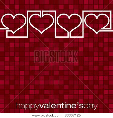 Continuous Line Heart Valentine's Day Card In Vector Format.
