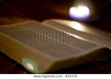 Bible and Candle