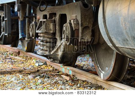 Wheel of train or railway, Suspension base of train