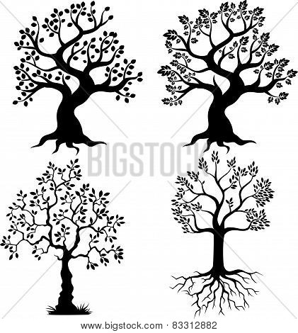 Cartoon Tree silhouette