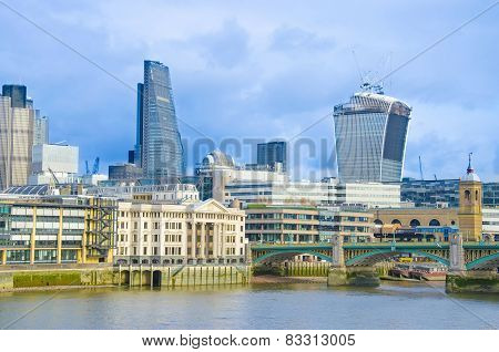 City of London on a bright sunny day