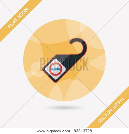 Do Not Disturb Sign, Flat Icon With Long Shadow