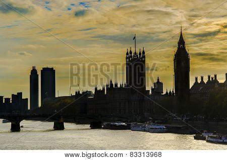 Big Ben and Westminster skyline, London