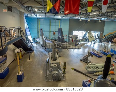 Exhibits inside the Military Museums